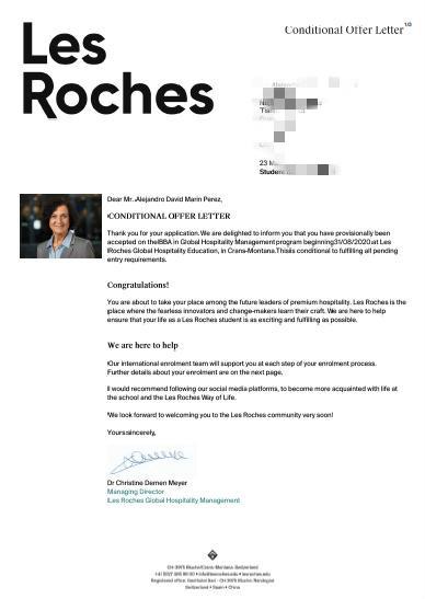 Les Roches Marin同学